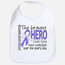 Bravest Hero I Knew Stomach Cancer Bib