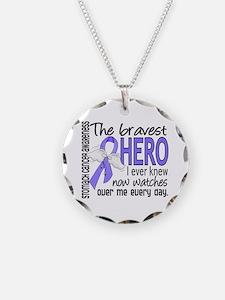 Bravest Hero I Knew Stomach Cancer Necklace