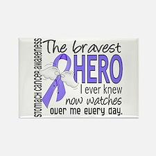 Bravest Hero I Knew Stomach Cancer Rectangle Magne