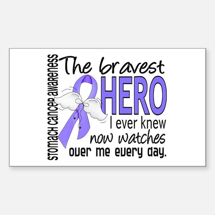 Bravest Hero I Knew Stomach Cancer Decal