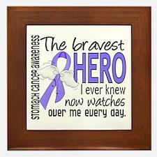 Bravest Hero I Knew Stomach Cancer Framed Tile