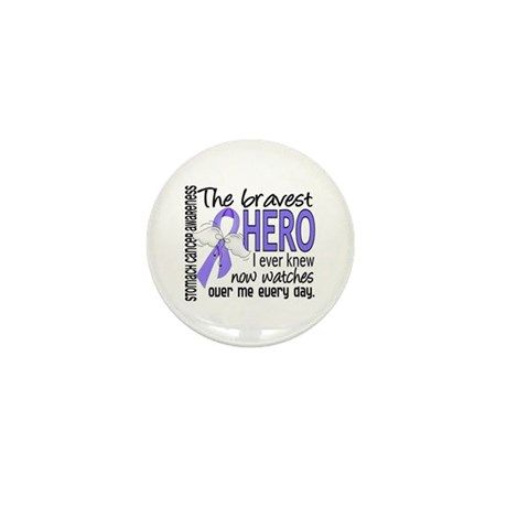 Bravest Hero I Knew Stomach Cancer Mini Button (10