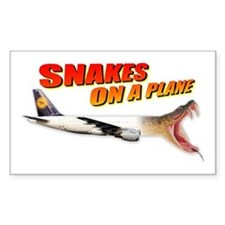Snakes On A Plane Rectangle Decal