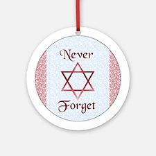 Never Forget Holocaust Hanukkah Ornament