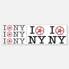 I Bike NY Bumper Bumper Sticker