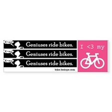 Geniuses Ride Bikes stickers