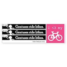 Geniuses Ride Bikes stickers