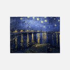 Van Gogh Starry Night Over Rhone 5'x7'Area Rug