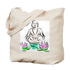 Buddha Sitting On Lotus Tote Bag