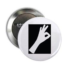 """OK 2.25"""" Button (10 pack)"""