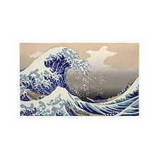 Hokusai The Great Wave off Kanagawa 3'x5' Area Rug