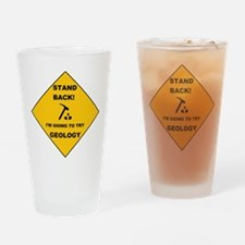 Stand Back Geo 1 Drinking Glass