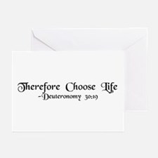 """Therefore, Choose..."" Greeting Cards (Package of"