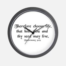 """Therefore, Choose..."" Wall Clock"