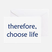 """""""therefore, choose..."""" Greeting Cards (Package of"""