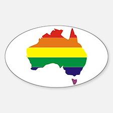 Aussie Pride Rainbow Australia Sticker (Oval)