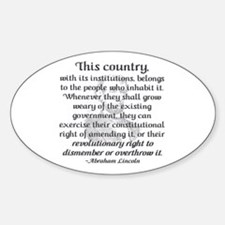 """""""Revolutionary Right"""" Oval Decal"""