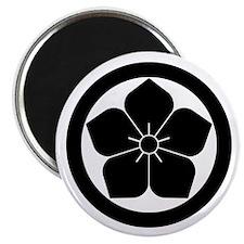 Balloon flower in circle Magnet
