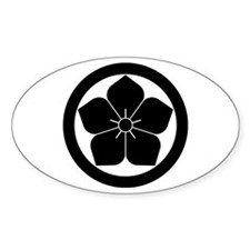 Balloon flower in circle Decal