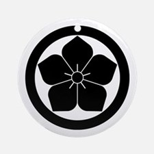 Balloon flower in circle Ornament (Round)