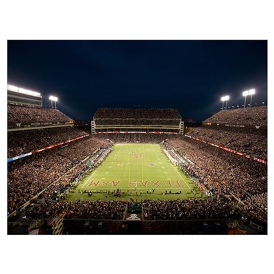 Texas A and M Pictures Lights on Kyle Field Poster