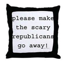 Liberal - Scary Republicans Throw Pillow