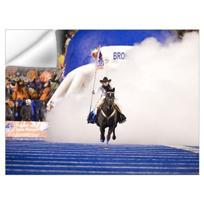 Bronco Stadium on Game Day Wall Decal
