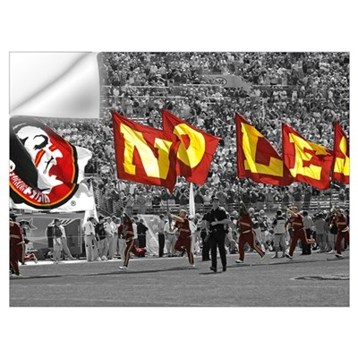 Seminole Flags in Doak Cambell Stadium Wall Decal