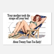 Straps Off Your Bed Postcards (Package of 8)