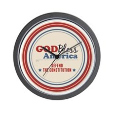 Defend The Constitution Wall Clock