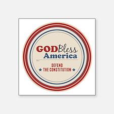 "Defend The Constitution Square Sticker 3"" x 3"""