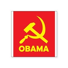 "Socialist Obama Square Sticker 3"" x 3"""