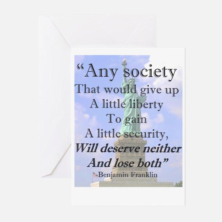 """Any Society..."" Greeting Cards (Pk of 10)"
