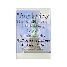 """Any Society..."" Rectangle Magnet"