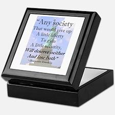 """""""Any Society..."""" Keepsake Box"""