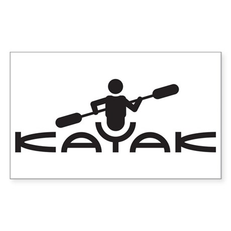 Kayak Logo Sticker (Rectangle)