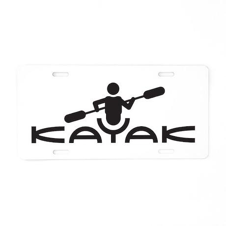 Kayak Logo Aluminum License Plate