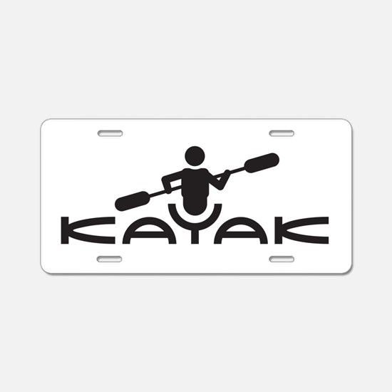 Kayak Logo Aluminum License Plate