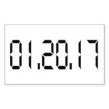 01.20.17 White Bumper Stickers