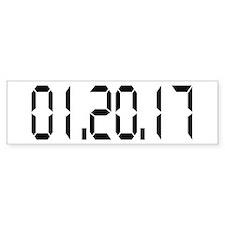 01.20.17 White Bumper Sticker