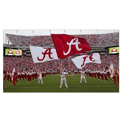 Bama Flags Fly on Game Day Canvas Art