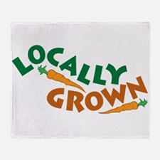 Locally Grown Throw Blanket