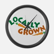 Locally Grown Large Wall Clock