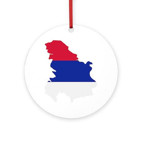 Serbia map flag Ornament (Round)