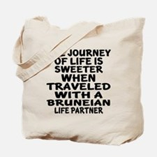 Traveled With Bruneian Life Partner Tote Bag