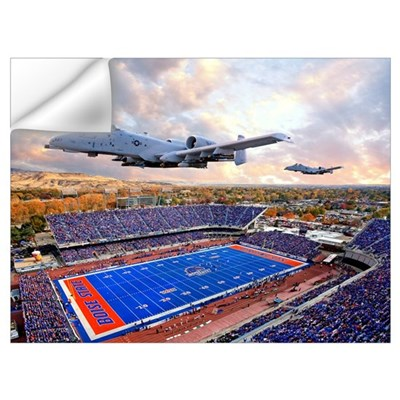 A 10 Warthogs Flyover Bronco Stadium Wall Decal