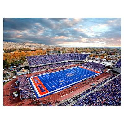 Aerial View of Bronco Stadium Poster