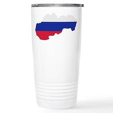 Slovakia map flag Travel Mug