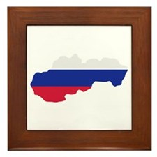 Slovakia map flag Framed Tile