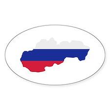Slovakia map flag Decal